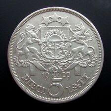 Latvia 5 Lati 1929 Silver Coin S2