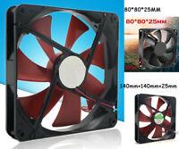140mm Best Silent Quiet PC Case Cooling Fans 14cm Dc 12v 4d Plug Computer Cooler