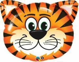 "Tiger Shape Face Jungle Safari Zoo Birthday Party Supply Baby Shower 30"" Balloon"