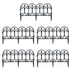 5pc/Set Black Garden Border Fencing Yard Finish Edging Covers 10 Feet Durable US