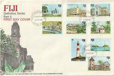 1980 Fiji oversize FDC cover Definitive Series Part II Buildings