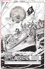 JLA Justice League #4 Original Art Title Splash Page Aquaman Zatanna Pirate Ship