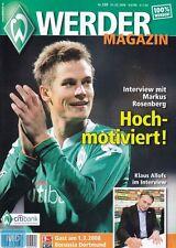 Werder Magazin + 01.03.2008 + Bremen vs. Borussia Dortmund + Programm +