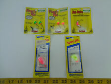 Lot of 5 Northland Jig-lets Float n Rig Worden's Spin-n-Glo Fishing Lure Hook T
