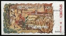 ALGERIA 100 DINARS 128 1970 *SPECIMEN* FRANCE DEER UNC RARE AFRICA CURRENCY NOTE