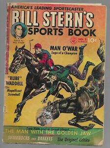 Bill Stern's Sports Book #2 1952 Ziff-Davis Golden Age Comic Book G/VG
