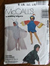 MCCALLS ANDREA SCHEWE TURTLE SQUIRREL BIRD PATTERN 4459 CHILD 5-6 FOREST FRIENDS