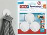 Tesa power strips small gancio adesivo rotondo bianco 57577 max 1Kg 3 pz sicuro