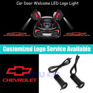 Red CHEVROLET Logo Car Door Projector Light for Camaro Silverado Colorado Impala