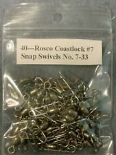 40 Rosco Coastlock 7 Snap Swivels 75 Lb Test Nickel Finish Size 7 No 7 33