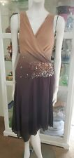 Nougat London cocktail dress.Sz1.Silk outer and lining.Excellent condition