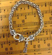 Licensed Kappa Alpha Theta Lavaliere Rope Bracelet FREE SHIPPING KAT jewelry