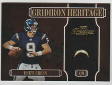 "DREW BREES 2005 Playoff Prestige ""Gridiron Heritage"" HOLOFOIL #GH-13 SP #008/100"