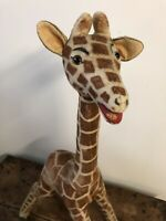 Peluche Ancienne Girafe 🦒 Ours Ancien 1950 Teddy Bear 100cm