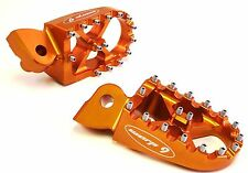 KTM Billet, Foot Pegs,57MM,Orange,Dual Sport,Motocross,Dirt Bike-Warp9