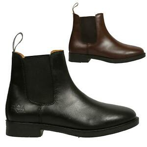 Ladies Equestrian Jodhpur Boots - Classic Leather Horse Riding Yard Short Boots
