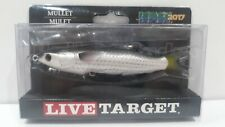 "LiveTarget Lures Mullet Hollow Body 5.375"" Lure Natural/Black 5/8oz Snook, Tarpo"