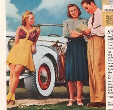 General Tire '30s Ladies Squeegee Wrinkle Automotive Auto Print Ad Page Vtg 1939