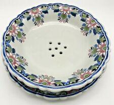 Vintage Royal Goedewaagen Holland HandgeSchilderd Fruit Veggie Drain Bowl Plate