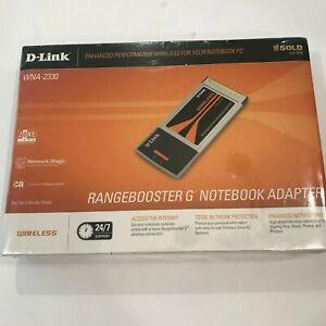 Rangebooster G Notebook Adapter D-Link WNA-2330 Wireless NEW In Box