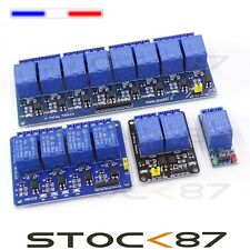 Module relais 5V  1 à 8 relais pour Arduino , Raspberry .... low trigger carte