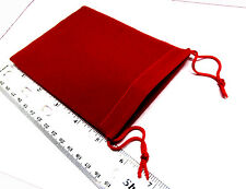 Lot 100 DeLuxe 4x5.5 inch Red Velour Wedding Gift/Coin Presentation Bags w/strg