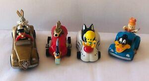 LOONEY TUNES Bugs Tweety Road Runner Coyote Daffy 1990 KFC Toy Race Cars F1