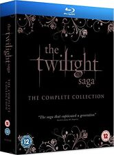 TWILIGHT SAGA COMPLETE NEW MOON + ECLIPSE BREAKING DAWN 1 & 2  BLU RAY BOXSET