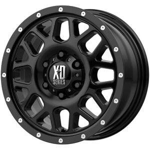 "XD Series XD820 Grenade 18x8 5x5"" +38mm Gloss Black Wheel Rim 18"" Inch"
