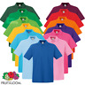 Fruit Of The Loom MEN'S POLO SHIRT PREMIUM COTTON GOLF TENNIS COLLAR SMART S-3XL