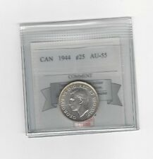 **1944**, Coin Mart Graded Canadian, 25 Cent, **AU-55**