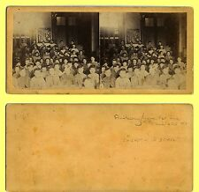 Rare & Sad Early Anthony Stereoview, NYC Friendless Home Orphans in School, #7