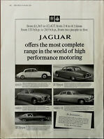 Jaguar The Most Complete Range In the World of High Performance Motoring Ad 1967