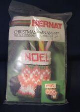 "Bernat ""Fair Isle Stocking"" Christmas Ornament Needlepoint Kit - Unopened"