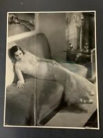 Vtg Original GLORIA SWANSON master print oversize photo by John Miehle