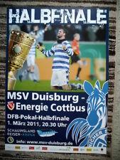 Plakat 10/11 MSV Duisburg - Energie Cottbus DFB Pokal Halbfinale Format A2