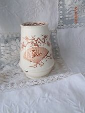 Antique Vintage Brown Transferware Toothbrush Holder Aesthetic Fan