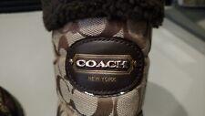 Coach Signature Sonya Snow Boots, Women's Size 8-B.