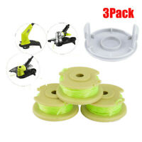 3Pcs Twisted Line and Spool Replacement For Ryobi Cordless Trimmers AC80RL3 US