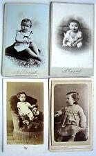 4 CDV PHOTO XIX WALERY TARPENT RAMEIL GOUGENHEIM BÉBÉ ENFANTS e708