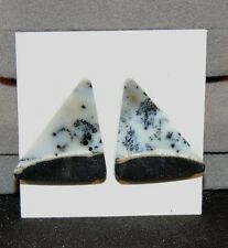 Dendritic Turkish Opal Pair of Cabochons 24x21mm (7103)