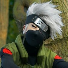 Hot Sell! Kakashi SOUL EATER Anime Silver white Short Cosplay Wig+headband W#603