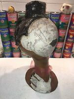 Interesting large abstract contemporary ceramic studio pottery bust of a woman