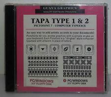 Guava Graphics Tapa Type 1 & 2 Hawaiian Tribal Icon Software (PC/Windows) E5428