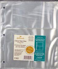 Hallmark Ar1039 Refill Medium Photo Album Pkg 12 Pages 3-Pockets Baby, Wedding