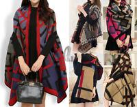 AU SELLER Blanket Poncho Reversible Cloak Cape Coat Warm Wrap SCARF/SHAWL sc075