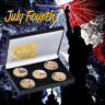 WR American Independence Day Gold Commemorative Coin Souvenir Gifts In The Box