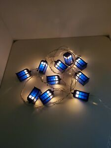 Doctor Who Tardis Police Box String Of 10 Lights Working
