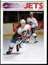 1988 Winnipeg Jets Home vs St Louis Blues NHL Hockey Program #56