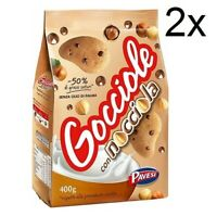2 Pavesi Gocciole Nocciola Italian hazelnut Biscuits with Chocolate Drops 400 gr